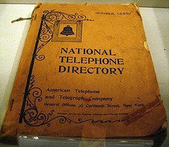 Old telephone book replaced by internet