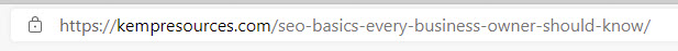 This is what a page address looks like